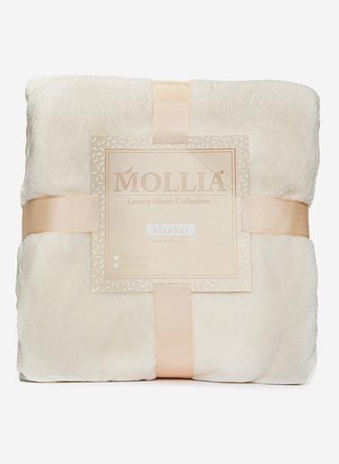 Mollia Soft Touch Çift Kişilik Battaniye Krem